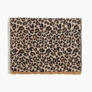 J Crew Leopard Animal Print Scarf Shawl Blanket
